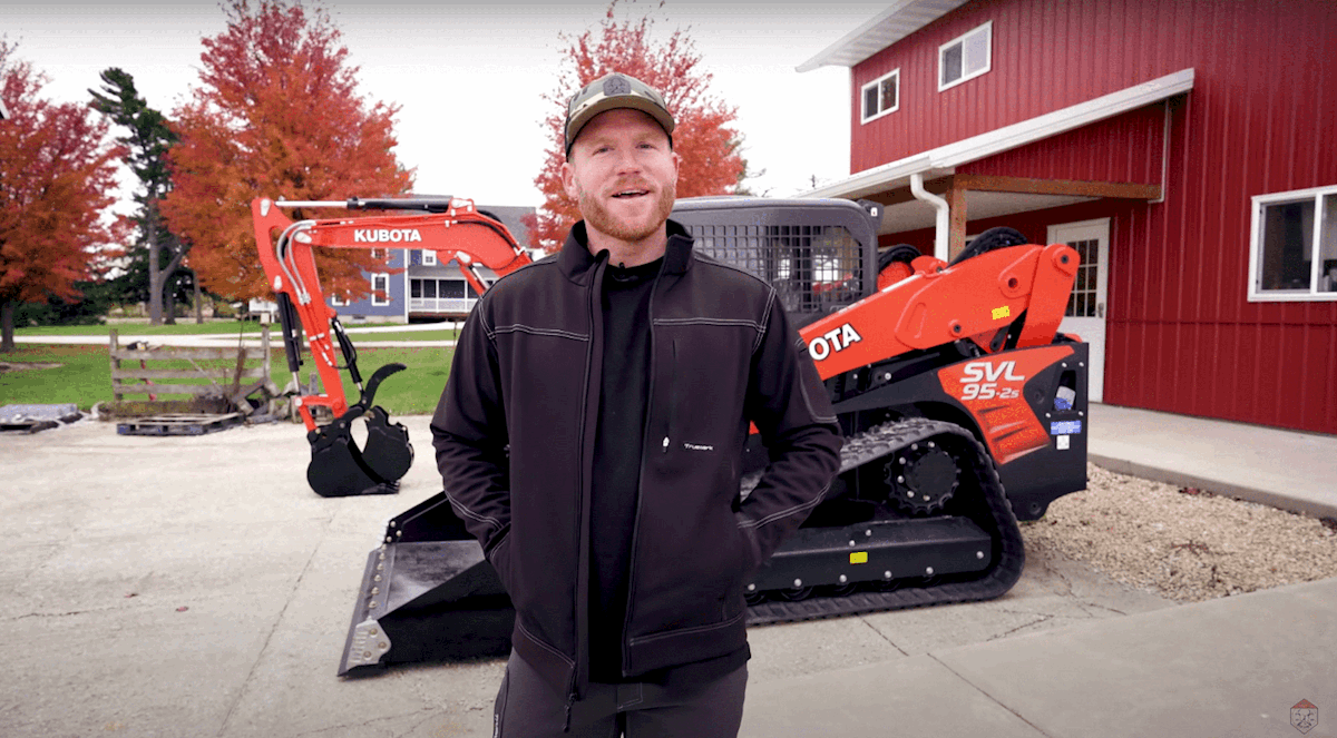 Kubota Partners with Rural Renovators' Kyle Stumpenhorst on SVL, KX Series
